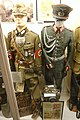 Nazi Germany uniforms etc. RAD Reichsarbeitsdienst Unterfeldmeister. Cap, tunic, gorget, badges, pins, dagger + Wehrmacht Major ceremonial parade uniform, aiguillette, Iron Cross, DRL, etc Lofoten krigsminnemuseum 2019 DSC00262.jpg