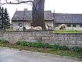 Nedvězí, Pánkova, památný hraniční dub a ovce.jpg