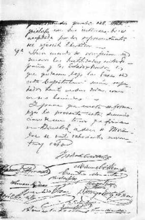 Negros Revolution - The last page of the Acta de Capitulación (Surrender Document).