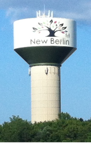New Berlin, Wisconsin - Municipal water tower