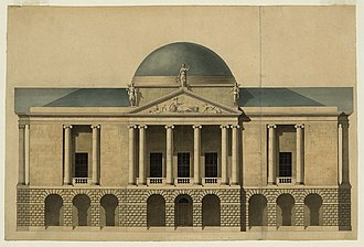 John Nash (architect) - Nash's unexecuted 1794 design for County Hall Stafford