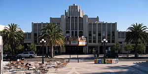 Fox Theatre (Redwood City, California) - Image: New Sequoia Theater Building, 2211 2235 Broadway, Redwood City, CA 9 5 2011 5 31 31 PM