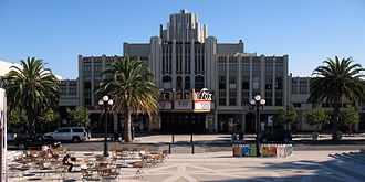 Fox Theatre (Redwood City, California) - Image: New Sequoia Theater Building, 2211 2235 Broadway, Redwood City, CA 9 5 2011 5 31 31 PM