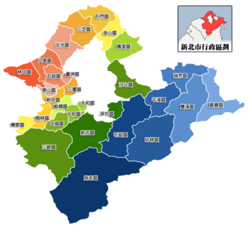new taipeis districts