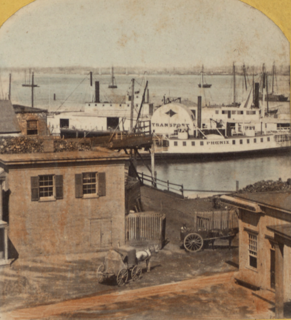 New York, from Hoboken, from Robert N. Dennis collection of stereoscopic views (cropped)