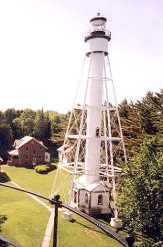 Michigan Island Light - The current tower