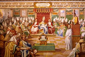 First Council of Nicaea - 16th-century fresco depicting the Council of Nicaea