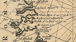 Nicolaas Witsen. Pontus Euxinus of niewe en naaukeurige paskaart van de zwarte zee uyt verscheydene stucken van die gewelten toegesonden, ontworpen door (18th century) Gulf of Burgas Part