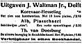 Nieuwe Rotterdamsche Courant vol 079 no 027 Avondblad advertisement Uitgaven J. Waltmann Jr., Delft.jpg