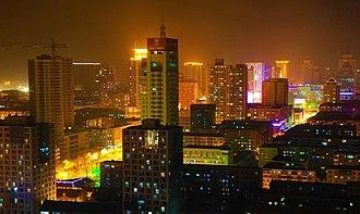 Mudanjiang - Image: Night of mudanjiang, china