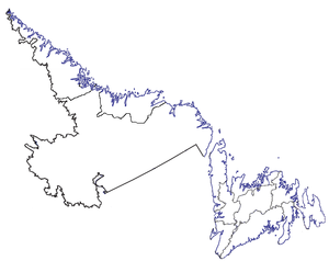 Map of the province showing the 10 Census Divisions
