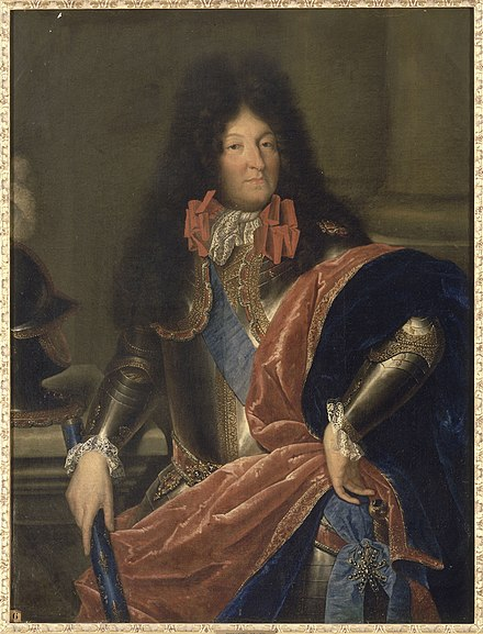 Louis in 1690 Nocret, attributed to - Louis XIV of France - Versailles, MV2066.jpg