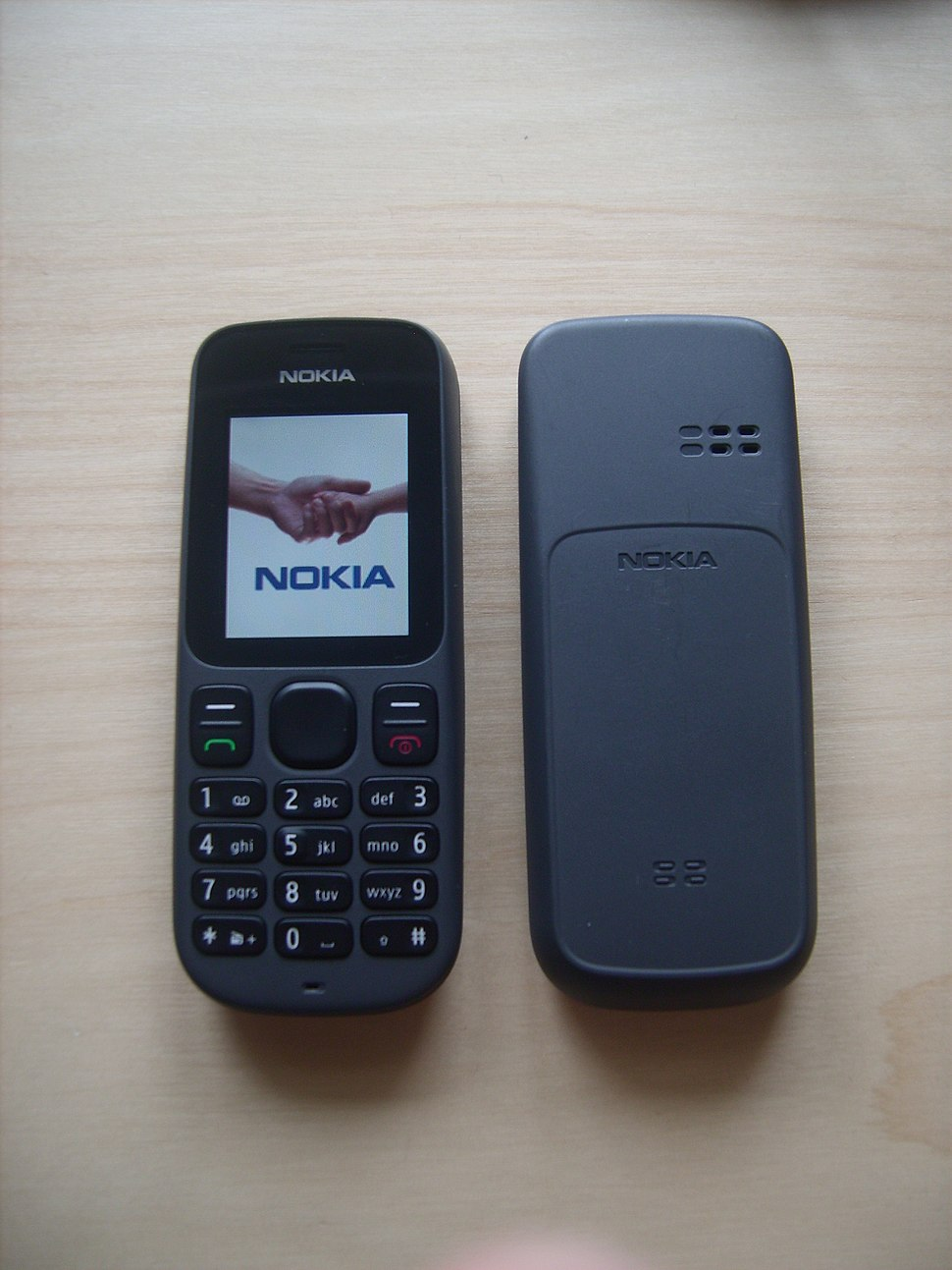 Nokia 100, front and back
