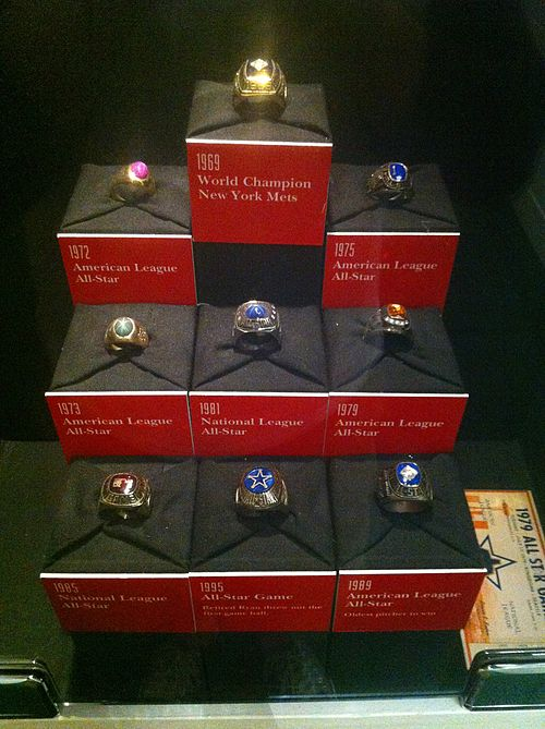 Nolan Ryan's 1969 championship ring on display at the Nolan Ryan Exhibit Center