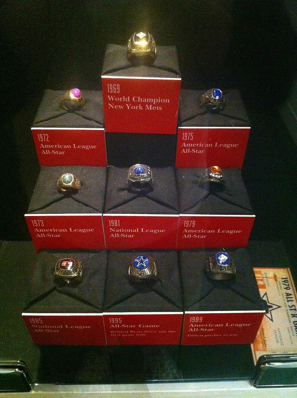 Nolan Ryan rings
