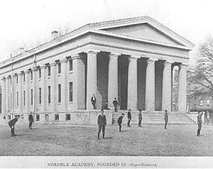 Norfolk Academy - Norfolk Academy, 420 Bank Street, c.1840