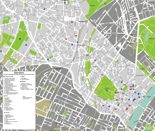 Map of Copenhagen/Nørrebro