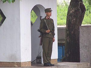 Korean People's Army - North Korean soldier, 2005.