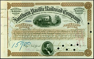 Northern Pacific Railway -  Preferred Shares of the Northern Pacific Railroad Company, issued 28. November 1881