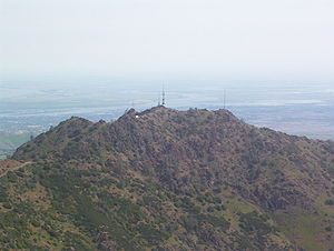 Brentwood, California - Photo of Mount Diablo, showing Brentwood behind the mountain and to the right).