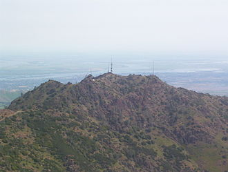 Brentwood, California - Photo of Mount Diablo, showing Brentwood behind the mountain and to the right.