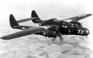Northrop P-61 Black Widow - The YP-61 pre-production prototype