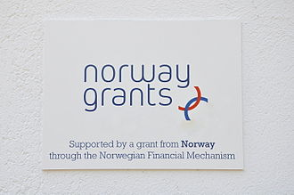 EEA and Norway Grants - A plaque on a calvary in Gödöllő, Hungary. Its renovation was funded by Norway through the Norway Grants.