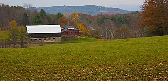 Norwich, Vermont - Norwich pastureland in late October