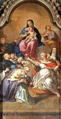 Nossa Senhora e o Menino Jesus e Santos