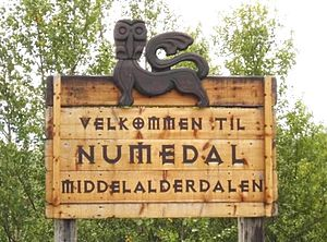 Numedal - A welcome sign to Numedal