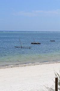 Nyali Beach from the Reef Hotel during high tide in Mombasa, Kenya 2.jpg