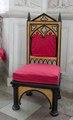 Nygotisk stol av björk, 1830-tal - Skoklosters slott - 103774.tif