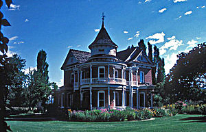 Oakley, Idaho - Victorian house in Oakley Historic District on the National Register of Historic Places.