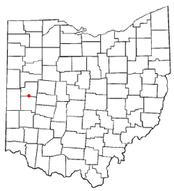 Location of Lockington, Ohio