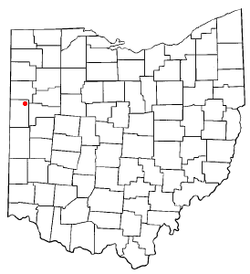 Location of Mendon, Ohio