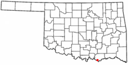 Location of Hendrix, Oklahoma