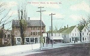 South Berwick, Maine - Image: Odd Fellows' Block, South Berwick, ME