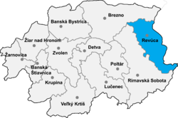 Location of Revūcas apriņķis