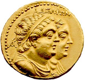Ptolemy II Philadelphus - Ptolemy II Philadelphus (front), and his sister and wife Arsinoe II