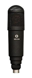 An Oktava condenser microphone.
