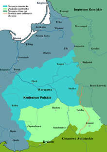 Map Of Poland Before Ww1 History of Poland during World War I   Wikipedia