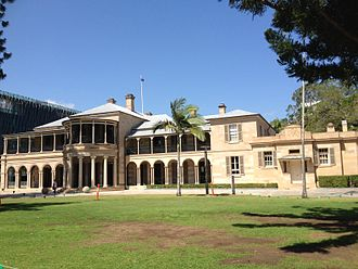 Old Government House, Queensland - The first Government House in Queensland – side view
