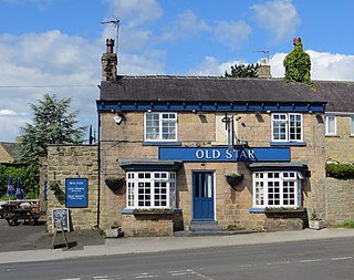 East Keswick village in the United Kingdom