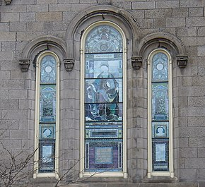 Detail Of The Churchs Stained Glass Windows