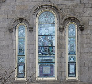 Old Stone Church (Cleveland, Ohio) - Detail of the church's stained glass windows