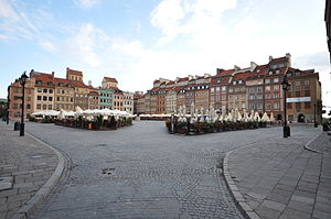 Warsaw's Old Town Market Place.