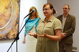 Olga Arkhipova in Gallery University of Culture 11.06.2014.JPG
