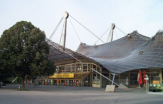 EuroBasket 1993 - Image: Olympia München (1972) Eingang Olympiahalle