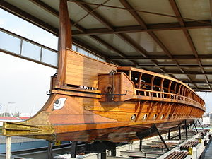 Ramming - The ram of ''Olympias'', a reconstruction of an ancient Athenian trireme.