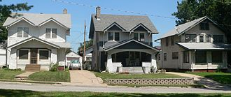 U.S. Route 75 in Nebraska - Houses of the Minne Lusa Residential Historic District in Omaha